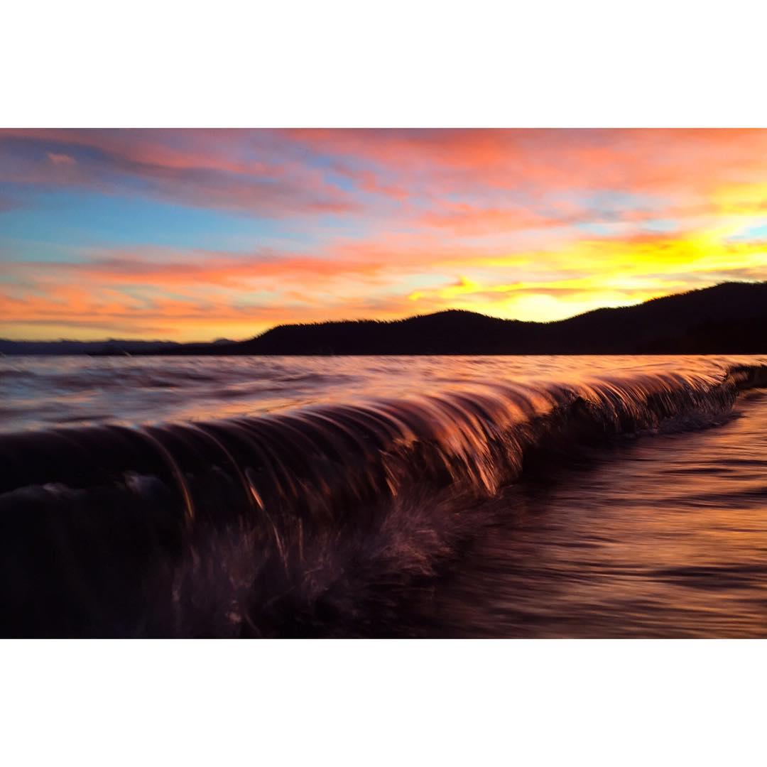 The waves were firing last night.