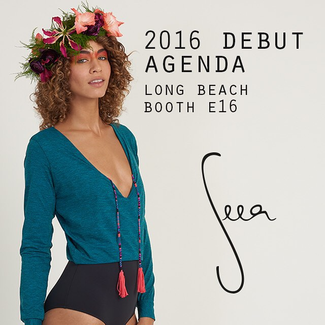 Meet SEEA at @agendashow @agendawmns Long Beach for debut of 2016 collection! July 8-9 at Long Beach Convention Center. Email surf@theseea.com  for appointments. #agendashow #agendawmns