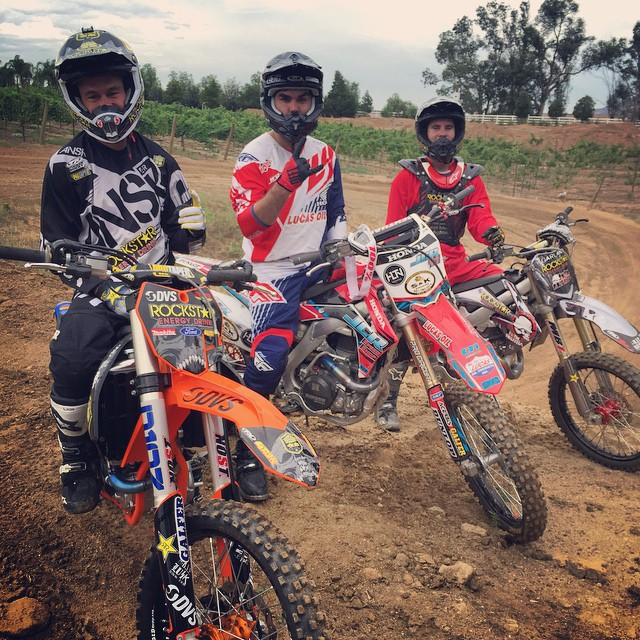 Solid ride this morning with the boys @toddpotter1 and @garlandfmx