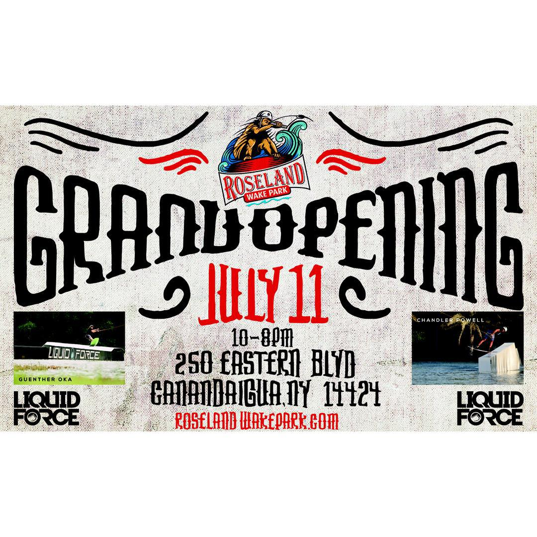 @roselandwakepark Grand Opening July 11th!  Join @guenther_oka and @chandlerpowell in New York for a day of fun in the sun!  Stoked to see you there!!