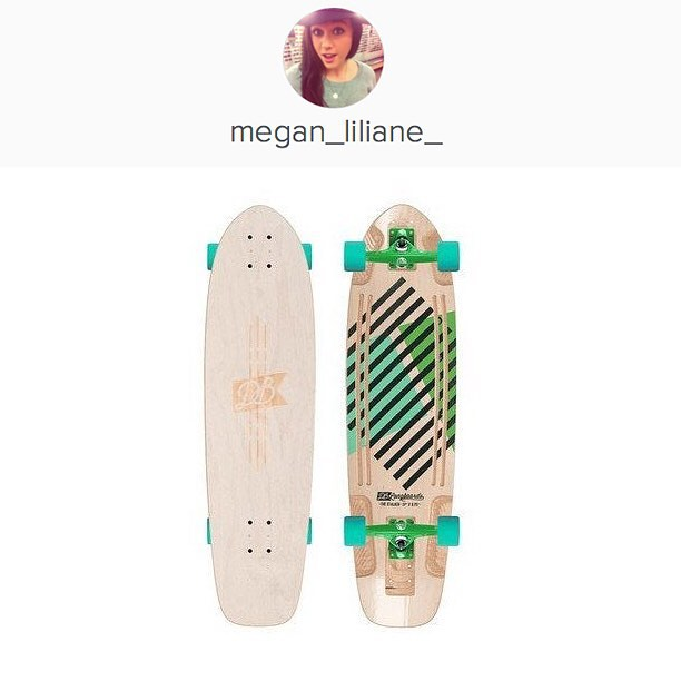 Congrats to @megan_liliane_ on winning a custom Stalker V2 longboard!  Megan just send us an email to info@dblongboards.com with your address, email, full-name and phone number and we will start working on your brand new custom longboard!