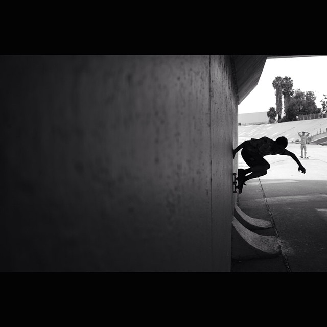 Under the bridge, next to the river, in front of his friends, in the shadows and up the wall: 'Street Schu' @ajschu with a timeless act of human curiosity surrounding vertical walls and a skateboard. Perfection captured by @markniznisbet of...