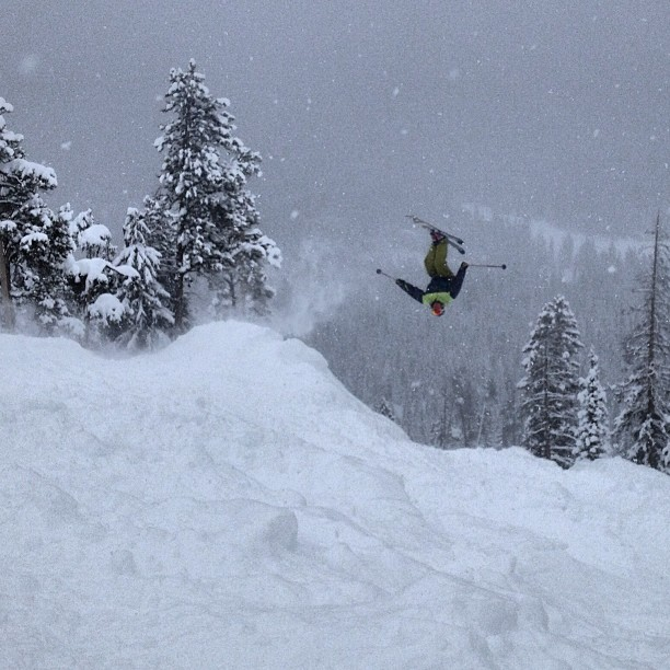 We were just flipping out over the killer snow conditions today! #imthebest #backies #rockymountainhigh