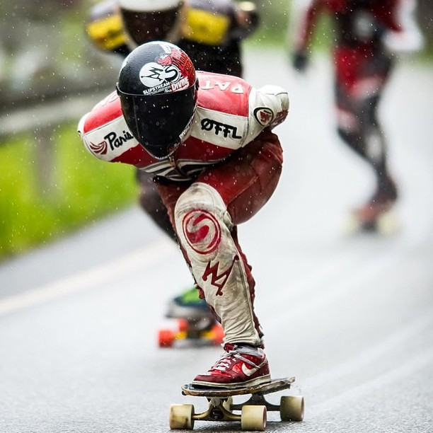 Rain or shine. @henningpat tucks through the wet conditions yesterday in Voss, Norway. #ekstremesportveko #divinewheelco #divinewheels