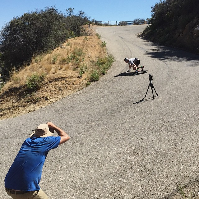 Out in the hills, the @wheelbasemag #keepontuckin2015 tour is well under way. @_morganowens_ncmb hits a righty while @bandiesel gets the shot. #divinewheelco #divinewheels