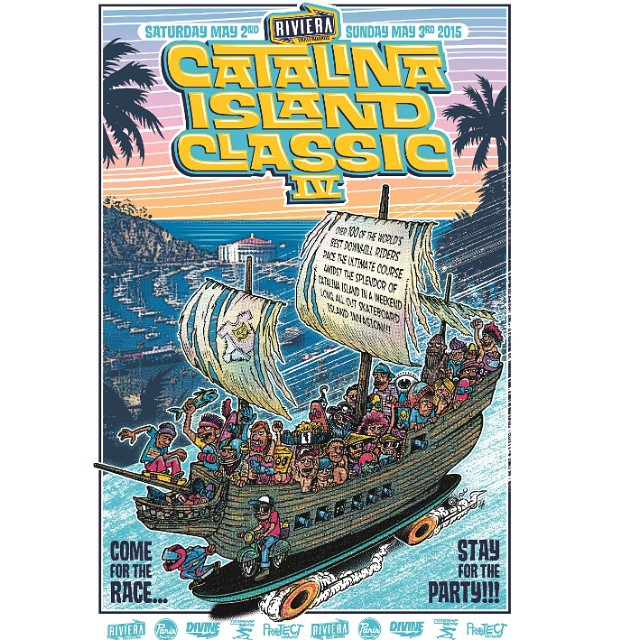 Pack your bags - The #catalinaislandclassic2015 is set for Saturday May 2nd and Sunday May 3rd. This year will be better than ever with more racers and even more good times. We look forward to seeing you all! #rivieraskateboards...