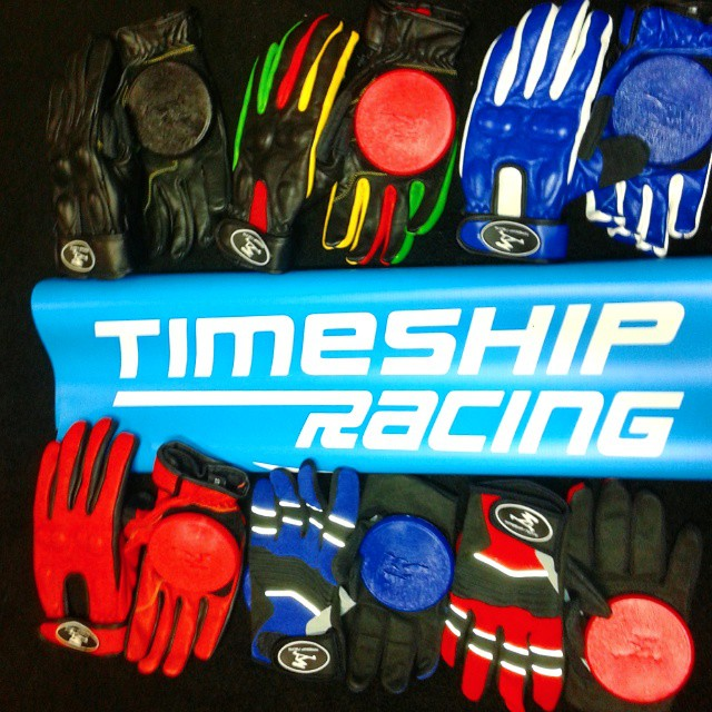 The full line of @timeshipracing gloves are available in skateboard shops worldwide from resource distribution.  If you cant find them locally, hit the direct link in our bio to get your hands on them! #timeshipracing #slidegloves #handsdownthegreatest