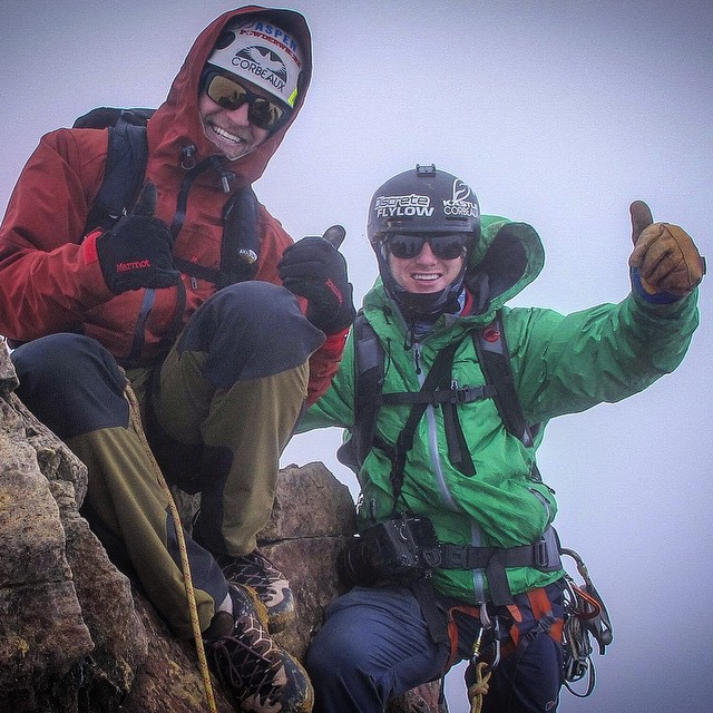 Our second and final acclimatization climb in Ecuador took @amoskiaspen and I (@tj_skis ) through all the elements. We climbed in rime, through mud, wind and bitter cold. Not to mention the altitude. I guess it's safe to say, we embraced the storm....