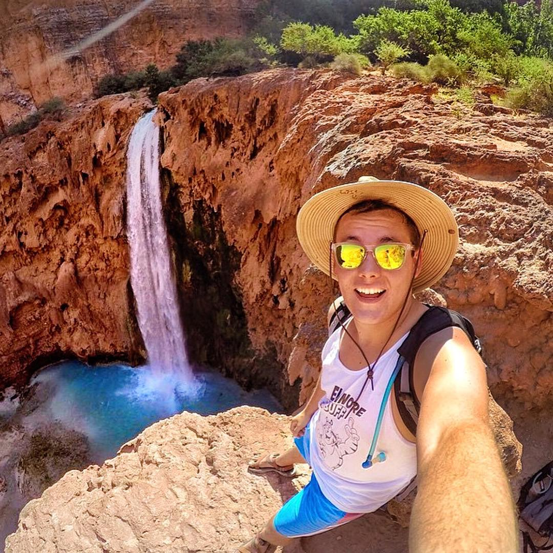Are you ready for the Adventure Hunt this Saturday?! Jeff snags this awesome photo while hiking to Havasupai Falls while sporting the Coconut Solo!  Kameleonz.com