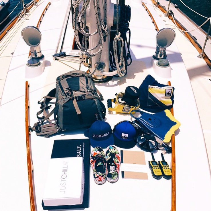 """Thisclose"" to the holiday weekend. Where will your Independence Day take you?@riverjordanphoto getting gear ready for his sailing trip in the Virgin Islands (including a stash of AllSwell notebooks for recording adventures, naturally.) #AllSwell #travel"