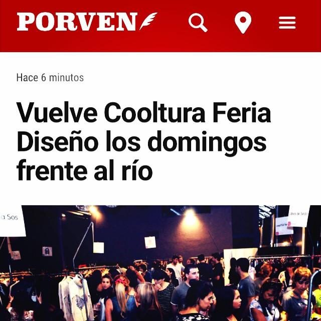 Genial la reseña que hizo el @diarioporven sobre @coolturaferia que esperas para visitarnos! #rosario #bondis #joy #love #summer #happy #cool #design #bondiscooltura