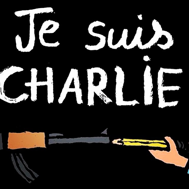 Liberte Egalite Fraternite #charliehebdo #freedom Prayers to the families of those who died.