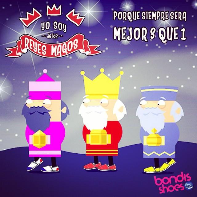 Es cuestión de estadísticas, preferimos tres a uno. Feliz día de Reyes! #bondis #summer #reyes #wish
