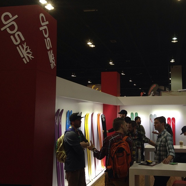 Day two of @siasnowsports #SIA14 and the booth is rocking... #dpsskis