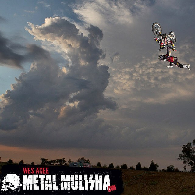 #TBT @Wes_Agee hangin with the clouds ⛅️ #MetalMulisha #FMX #WorldDomination