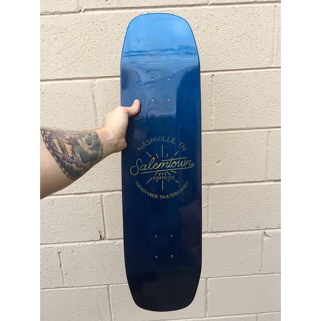 A beautiful handmade deck going out this week. #handmadeskateboard #handmade #Nashville #skate