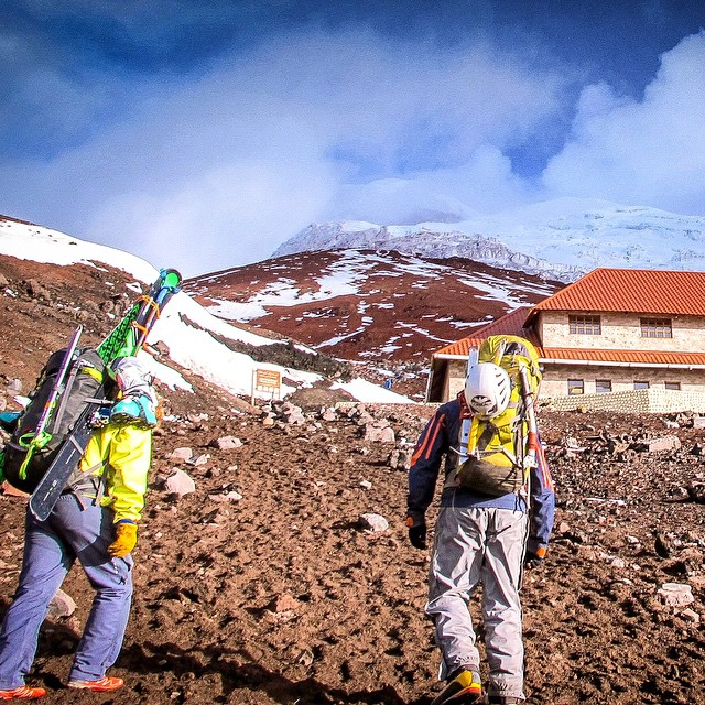Hey everybody, @tj_skis here back with another from our trip to Ecuador. Today, we're heading to Volcán Cotopaxi, first stop Cotopaxi Refugio at 15,700 feet. After two acclimatization climbs @amoskiaspen and I strapped our skis to our backs and made...