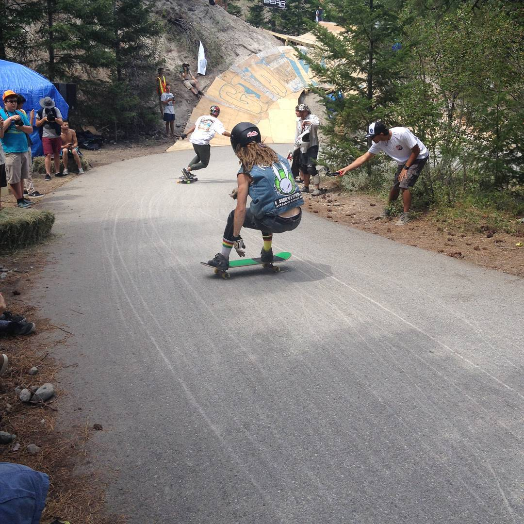 @dh_clbc Daniel was killing it all weekend long at #giantsheadfreeride last week.  He made it into quarters finals!  #restlessboards #restlessastrohican