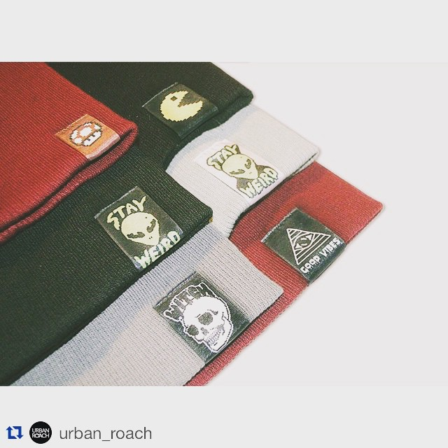 #Repost @urban_roach with @repostapp. ・・・ Beanies love #fashion #witch #design #beanie #cool #pixelart #magicmusch #photooftheday #pacman #ufo #goodvibes #ovni