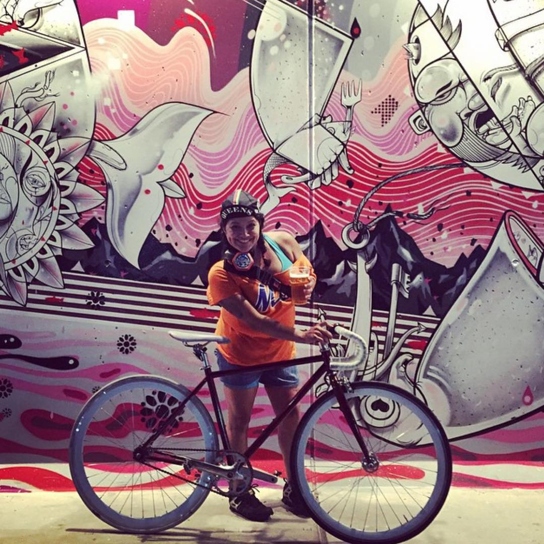 @mrsjackd #fixedlife at Coney Island #fixiefamous #fixedgear @statebicycleco