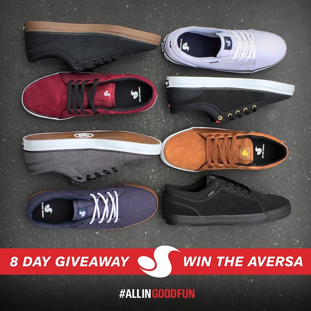 @dvsshoes is giving away 1 pair of #DVS Aversa each day for the next 7 days. Contest ends July 8th, 2015. Click the link in their bio to enter. Good luck! #ALLINGOODFUN #DVSaversa
