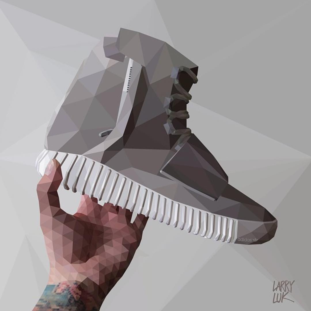 @larryuk Yeezy Boost - maybe the world is more rad in polygons. #sneakerhead #dopekicks