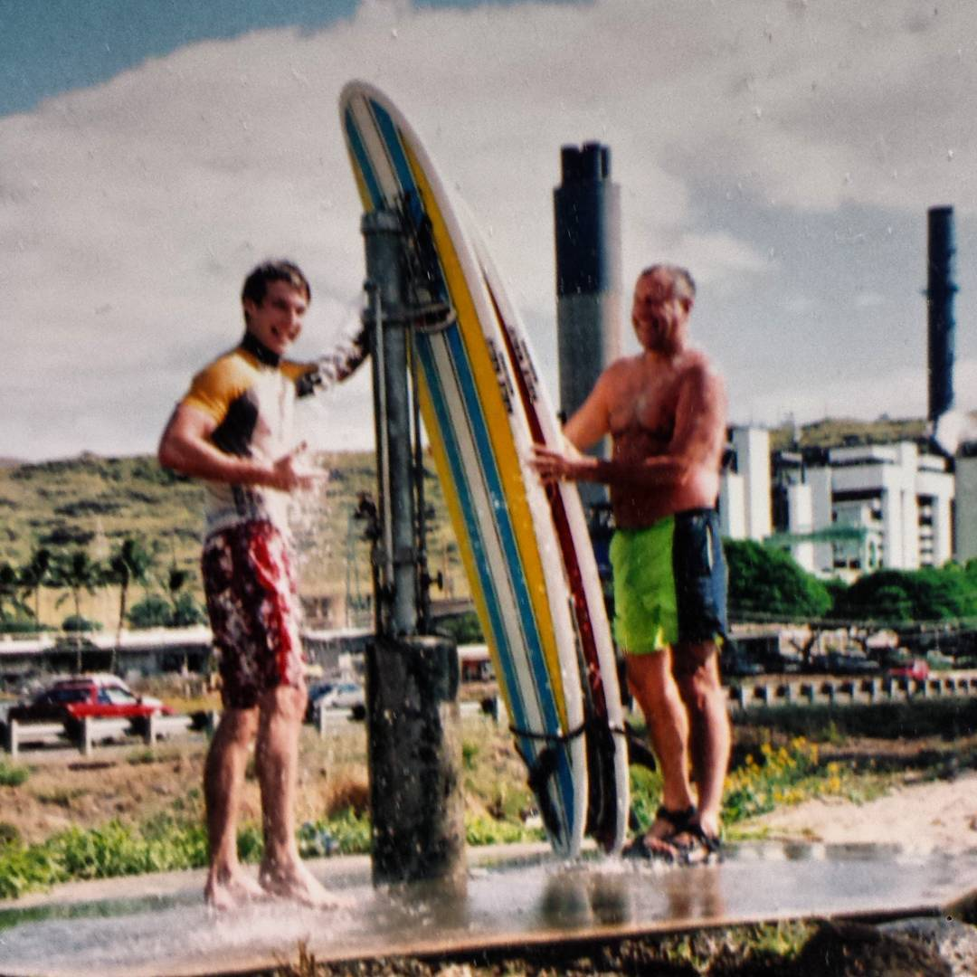 Father/Son Surfing in Hawaii. That's what it's all about.  #father #dad #surf #tbt #surfing #hawaii #livingthedream #family #familytime #fatherson #bonding #waves #swell #ocean #love