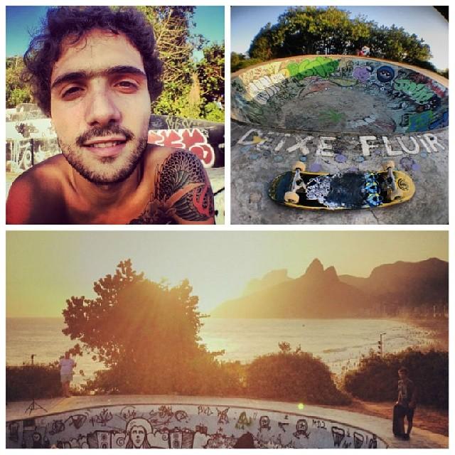 Daro in Rio! @dariomattarollo de tour x Brasil. #teamvans #trip #tour #skate #skateboarding #rio #godaro