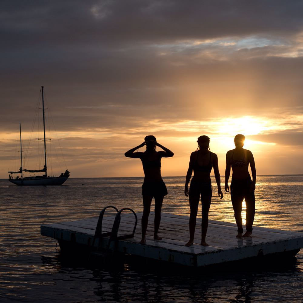 Nothing beats sunset swims and island adventures. #AirTahitiNui  #ROXYsneakpeek