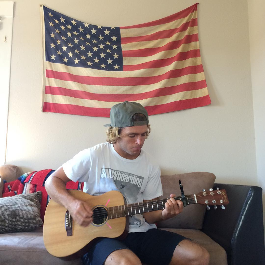 Coal Ambassador @austensweetin strums up a storm in anticipation for the 4th. It's hard to beat a 3 day weekend. #coalheadwear
