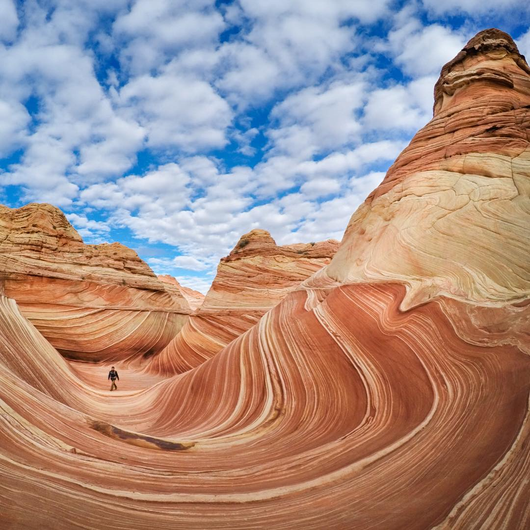 GoPro Featured Photographer - @travisburkephotography  The Wave, Arizona.  About the shot: Getting to this ancient sandstone formation is a bit like a treasure hunt, with no direct trail and only a map showing the natural landmarks to follow. After...