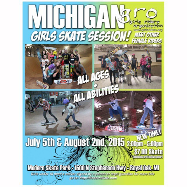 Sunday session @modernskate Hope to see you there #ridetrue #ladiesofshred #girlsthatskate