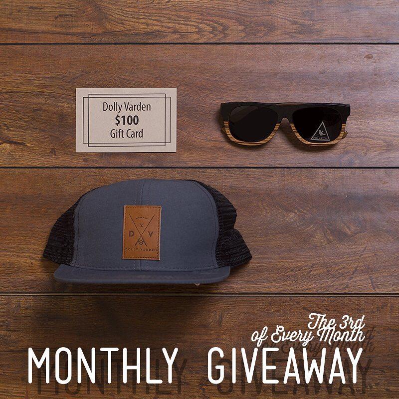 Today's the last day to enter our #NatureOfProof Giveaway!  This month, we teamed up with our friends at @dollyvardenoc // Winner will receive: The Cascade Wood Sunglasses ($115 value), Dolly Varden Hat ($30 value) & a gift card to dollyvardenoc.com...