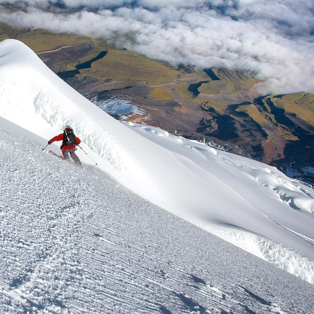 Enjoy the 4th everyone. Here's @amoskiaspen off the summit of Cotopaxi.  For more photos from our trip to Ecuador, follow hashtags #skiecuador #corbeauxecuador #jointheflight  #liveforthemoment #embracethestorm  ______________________________