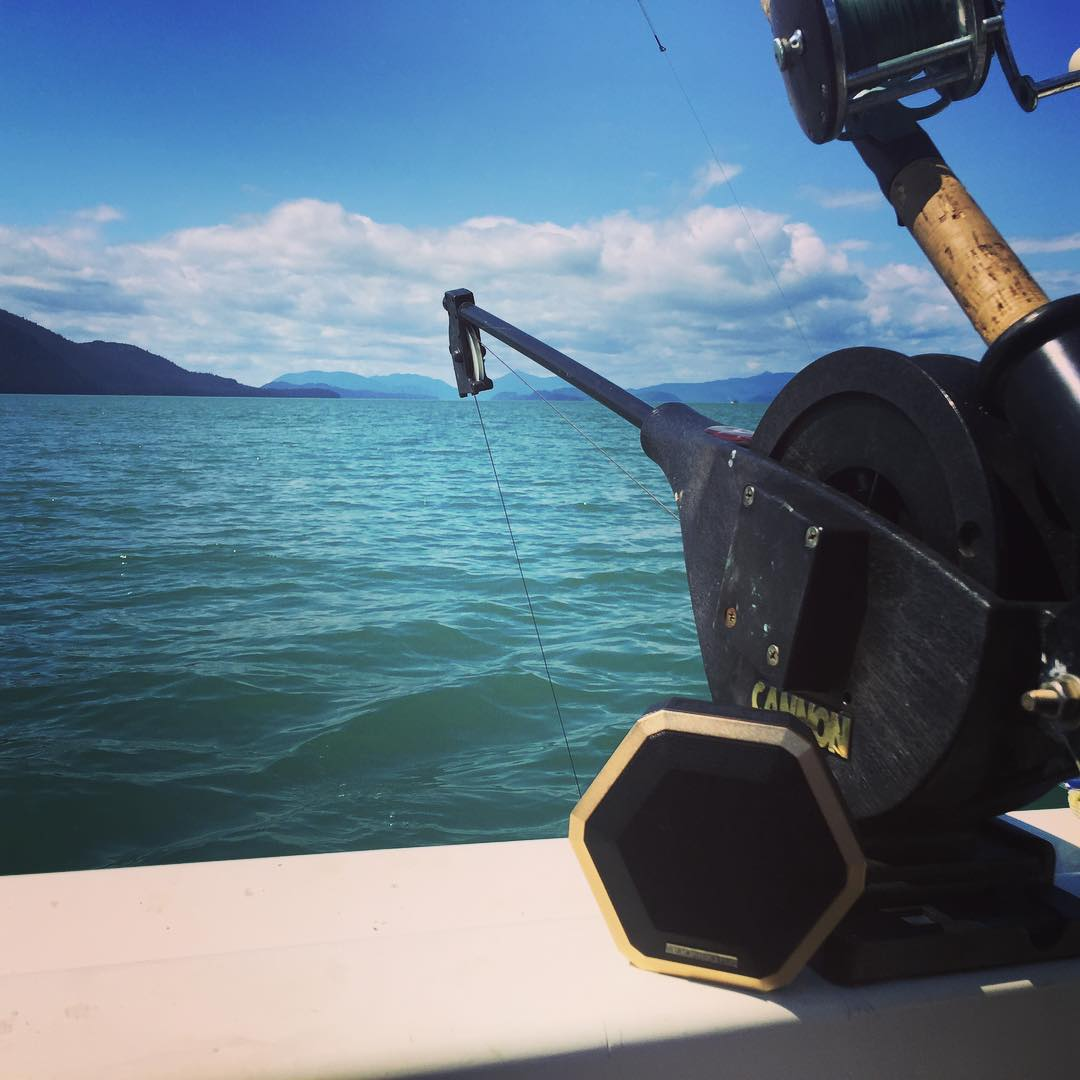 Gone fishin' luring in some salmon with #boombotPRO sonar mating calls #alaska