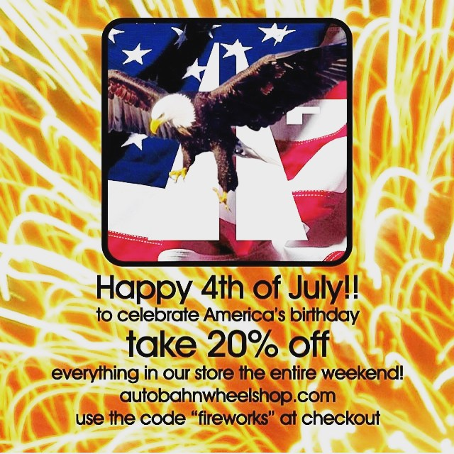 "20% OFF when you use the code ""fireworks"" all weekend! #Happy4thofJuly USA"