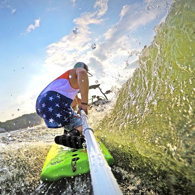 Happy 4th of July! Photo: @antanari GoPro HERO4 | GoPole Reach #gopro #gopole #gopolecenturion #wakesurf #4thofjuly #