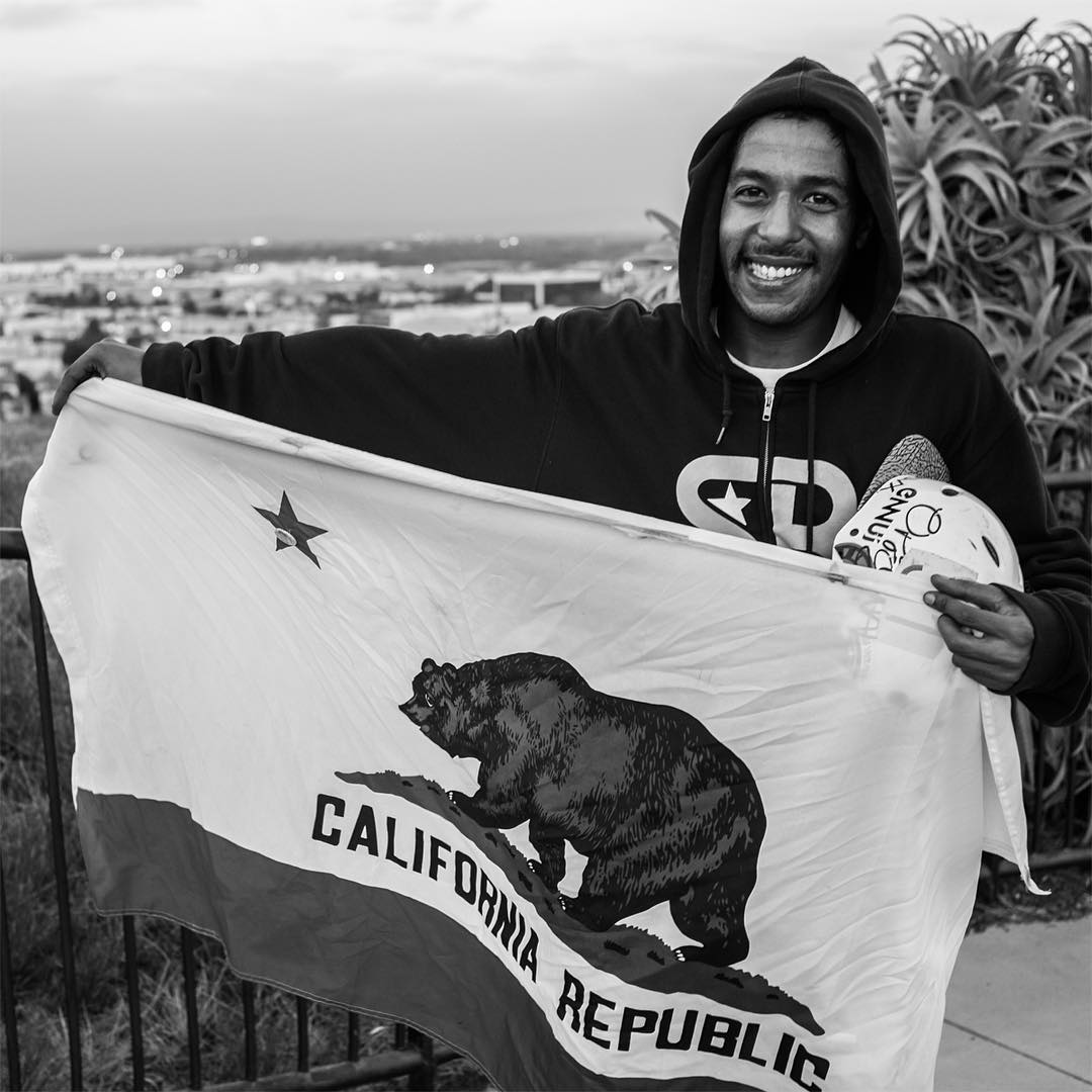 No American flags here, but we thought this photo of how stoked @agboton was when @gnarlivin gave him his California Republic flag to bring back to Spain captured some awesome vibes.  It doesn't matter where you're from, what country you live in, or...