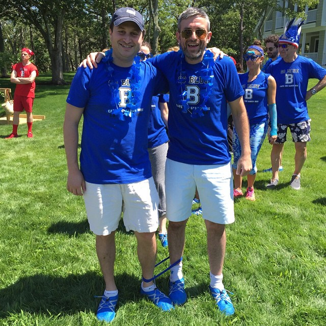 Having the best time at the #capecodgames2015 Thank you Alec Sulkin for your hospitality!! #capecod #blueteam #teambluechamps #july4 #ted #ted2 @thesulk @pakems1