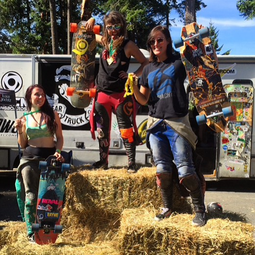 Today Up in Saltspring Island in beautiful British Columbia was an epic race! These ladies all killed it and snagged the top spots! Congrats @chelagiraldo on first, @kbeaaat on second, and @annaoneill on third! #longboardgirlscrew #girlswhoshred