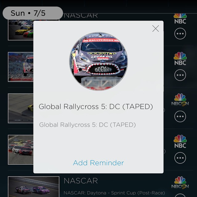 Check out #rallyx Sunday at 5p eastern time. Watch it on tv or on your phone with the #NBC sports app .  #GRC #racing