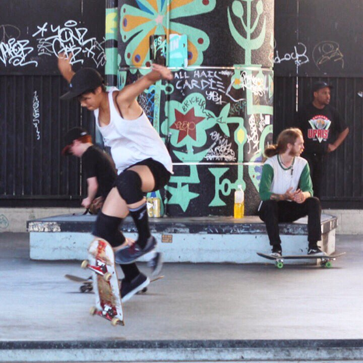 Epic shot of @katrynsy from yesterday's @skatelikeagirlsf skate date!