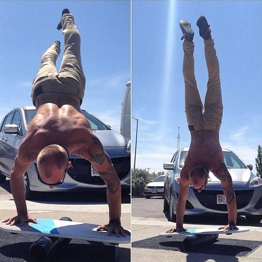 Balance gone crazy #revbalance #findyourbalance #balanceboards #madeinusa