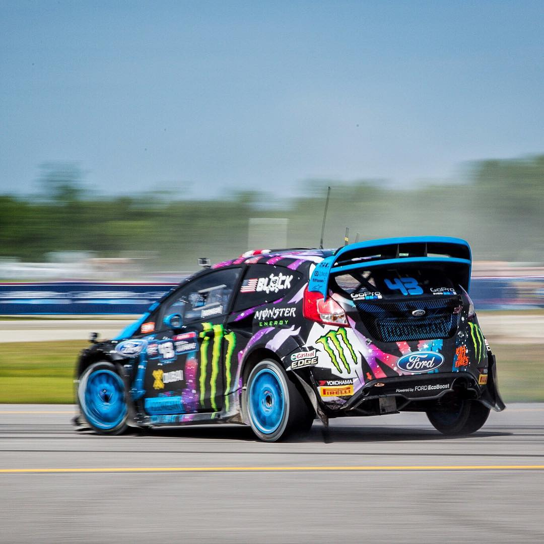 It's race day for HHIC @kblock43 at #GlobalRallycross round 4 in North Carolina! Heat 1 is over and KB finished 3rd even after starting in the back of he pack, heat 2 starts soon! #lazysunday #supporthooniganism