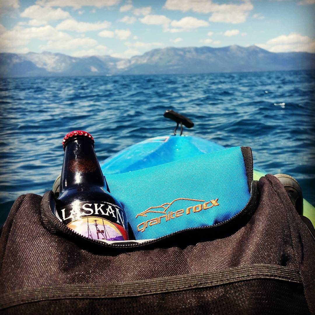What a great way to spend Sunday! @alaskanbrewing #kayak #getoutdoors #water #4thofjuly #sierras #lovetahoe #coolers #graniterocx