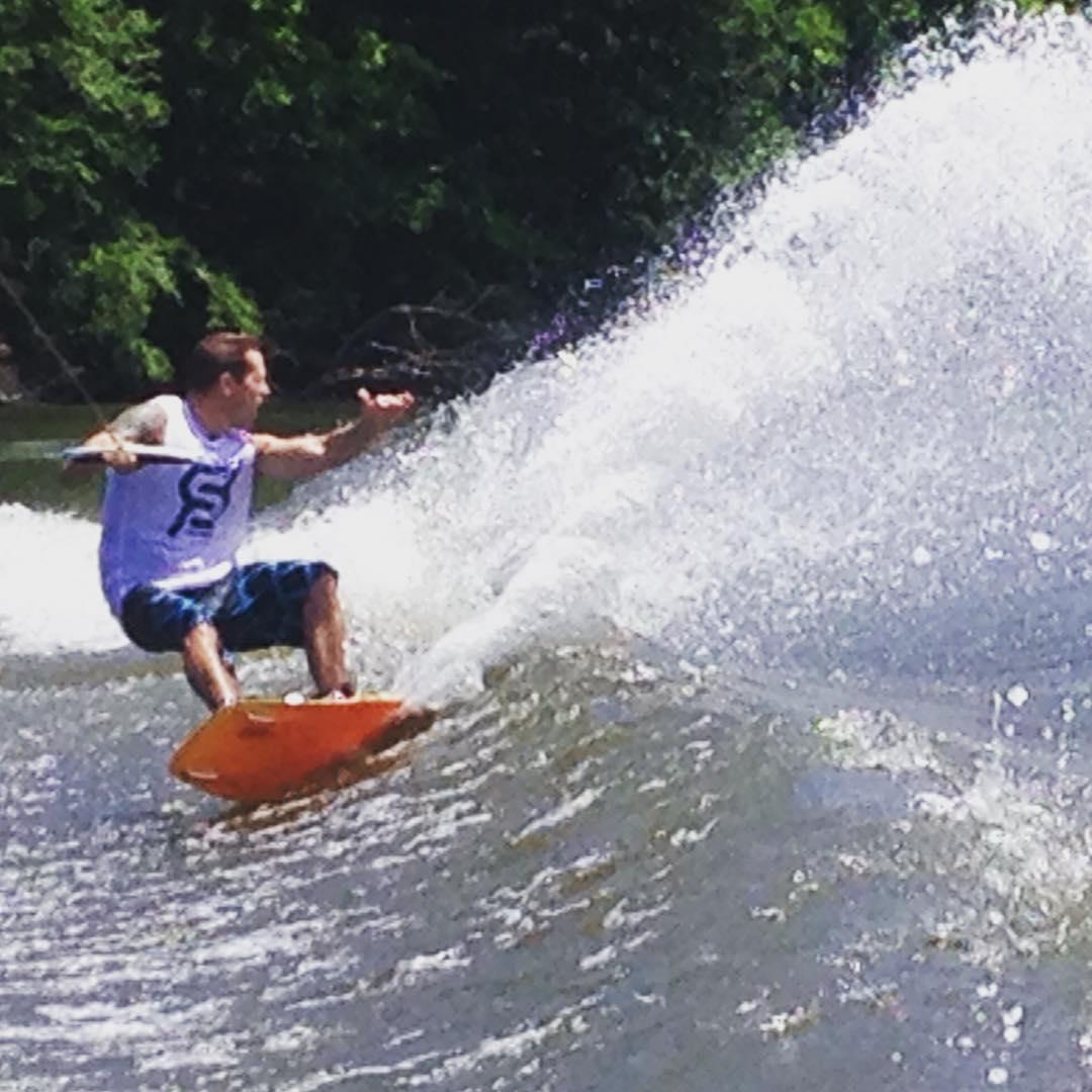 Happy Fourth! #merica #JustSendIt #julyfourth @ryehoff @kelsjohnson12 @blackboatblacktruck @kateemcneil #wakeboard #malibuboats #ronix @lindseyjacobellis #lakelife #wakeboarding
