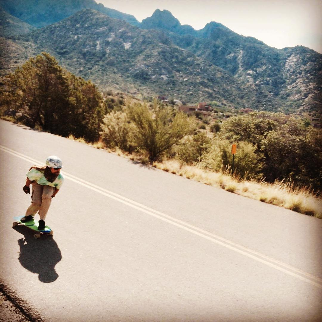 Team rider Adrian Da Kine--@adrian_da_kine riding roller coasters and getting fast in ABQ!  #adriandakine #bonzing #mccatboard