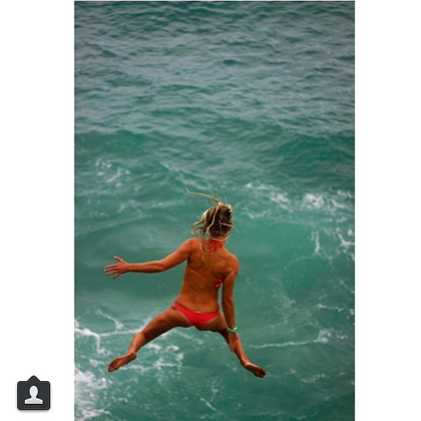 @carlywi #celebrating that it's #saturday by #jumpingforjoy! #getoutthere #explore #bikiniadventure