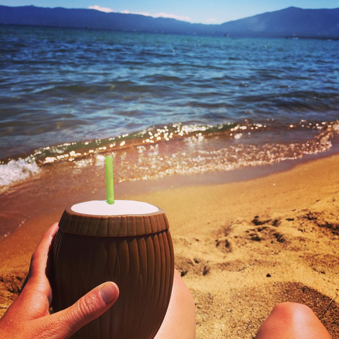 Limes in the coconut all weekend long #4thofjuly #laketahoe #tahoe #lakelife #coconut