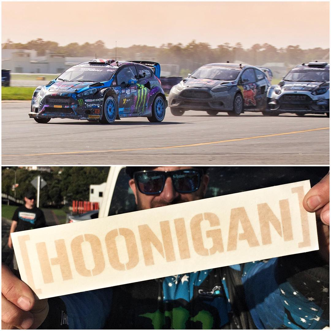 It's Hoonigan gold sticker time! As always, when I win - you win. So because I won #GlobalRallycross round 4 here in North Carolina, every order you place on #hoonigandotcom comes with a free gold sticker that isn't available at any other time. Orders...